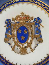 Porzellan Wappenteller FRANZÖSISCHES KÖNIGSWAPPEN, Samson, Paris, um 1890, 5