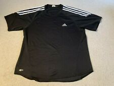 Adidas Climalite men's running sports fitness t shirt in black - large size