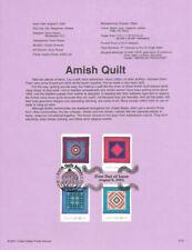 #0137 34c Amish Quilts Stamps #3524-3527 Souvenir Page