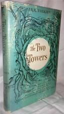 1962 THE TWO TOWERS LORD OF THE RINGS J.R.R. TOLKIEN WITH FOLD OUT MAP & JACKET