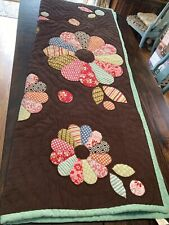New listing Pottery Barn Quilt Comforter Brown Corduroy Pink Dresden Twin
