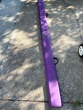 8' Floor Folding Balance Beam Non Slip Base Gymnastics Beam Practice Training