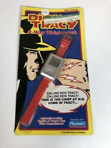 ⭐️Vintage Factory UNPUNTCHED SEALED Dick Tracy Watch Playmates 2Way Wristwatch⭐️