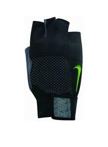 Nike Men's Core Lock Training Dry Heavyweight Gloves 2.0 Size Medium, Black/Volt