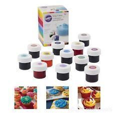 Set of 12 Icing Gel Colors For Cake Cupcake Decorating, Fondant And Frosting