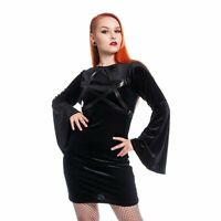 Heartless HOCUS POCUS DRESS Black Gothic pentagram goth occult S M L XL