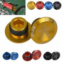 1 Pair Bike Mountain Bicycle Bar Caps Aluminum Alloy Plugs Supply D6J8
