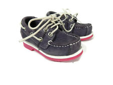 cd4550954c1 Timberland Baby Girls Shoe Size 4.5 Purple Suede Leather Loafer Toddler New