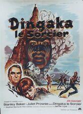 """""""DINGAKA (LE SORCIER)"""" Affiche originale entoilée (Jamie UYS / Stanley BAKER)"""