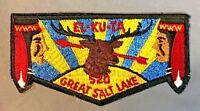 EL-KU-TA OA LODGE 520 GREAT SALT LAKE COUNCIL UTAH UT 508 535 407 OLD SOLID FLAP
