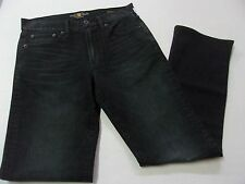 NEW $99 Mens Lucky Brand 361 Vintage Classic Straight Black Denim Jeans 34X32
