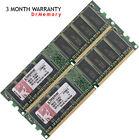 Kingston 2GB (2x1GB) DDR-400 PC3200 Non-ECC Desktop PC (DIMM) Memory RAM 184-pin