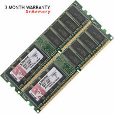 Kingston 2GB (2x1GB) DDR-400 PC3200 Non-ECC Desktop PC (DIMM) Memory RAM 184-pin