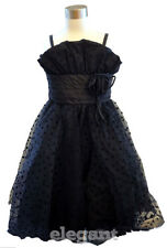 Robe De Mariage Tenues Cortège Filles Enfant 2-4 ans Noir Girls Wedding Gown #11