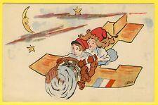 cpa Illustrateur R. de Brice AVION Femme Aviatrice France ORPHELINAT des ARMÉES