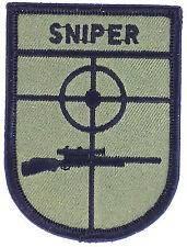 SNIPER ARMY MILITARY BADGE PATCH PATCHES MORALE AIRSOFT COMBAT PAINTBALL