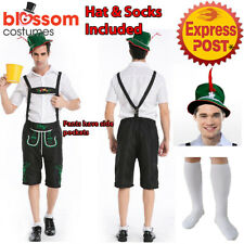 K7 Mens Bavarian Guy German Lederhosen Beer Oktoberfest Fancy Dress Costume