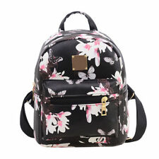 Womens Girl's Small Floral Mini Backpack Shoulder Bags Floral Backpack Rucksack
