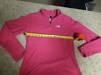Women's The North Face 1/4 Zip Pullover Fleece Sz S Pink Tka100