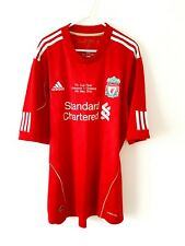 Liverpool FA Cup Final Home Shirt 2010. XL. Adidas. Red Adults Football Top Only