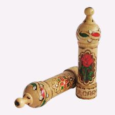Bulgarian ROSE OIL OTTO Esentia Perfume 2.1ml Wood Box Muskal Hand made Souvenir