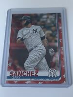 Gary Sanchez 2019 Topps Series 2 Independence Day Variation /76 New York Yankees