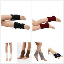 Women Cuffs Toppers Boot Knitted Socks Crochet Leg Warmers Winter Stocking SI