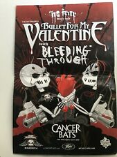 Bullet For My Valentine * Matt Tuck * Jay * Mike * Autographed Concert Poster