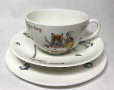 More details for antique royal doulton nursery rhymes cup saucer trio sing a song oranges lemons