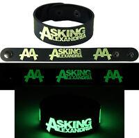 ASKING ALEXANDRIA  NEW! Bracelet Wristband gg103 Glow in the Dark Free Shipping