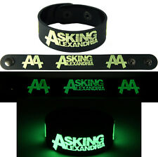 ASKING ALEXANDRIA  NEW! Bracelet Wristband gg103 Glow in the Dark Free Shipping