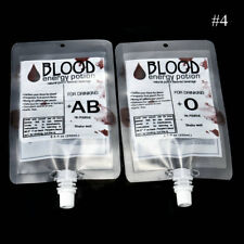 50X REUSABLE IV BLOOD BAG HALLOWEEN PARTY HAUNTED HOUSE DRINK CONTAINER DECOR US