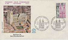 FRANCE FDC - 903 1810 3 BASILIQUE DE SAINT NICOLAS DE PORT 12 10 1974- LUXE