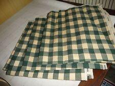 "#1019L Lot 4 fabric Napkins Green & Ecru Checker 16 1/2"" x 17"""