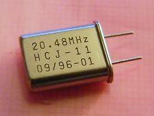 20x Quarz 20.48MHz HC18/U-Bauform