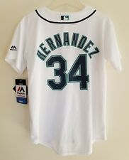 e0a04ced2 NWT Felix Hernandez Seattle Mariners Majestic Cool Base Youth M 10 12 Jersey