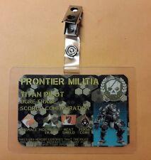 Titanfall 2 ID Badge - TITAN PILOT Ogre Frame  prop cosplay costume