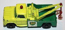 Matchbox Lesney #13 Dodge Wrecker Truck Yellow cab with green bed BP  -  GOOD