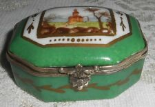 Antique French Porcelain Hand-Painted Sevres Snuff Trinket Box