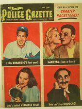 1951 National Police Gazette Magazine: Joe DiMaggio/Jake LaMotta/Virginia Hill