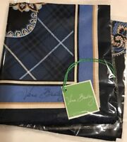 Vera Bradley Retired Windsor Navy Limited Ed Silk Scarf