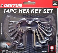 14 PIECE ALLEN / HEX KEY SET.  METRIC AND IMPERIAL SIZES.  IN HANDY KEYRING