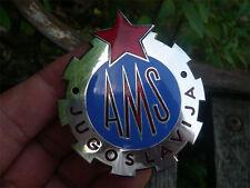 AMS - AUTO MOTO SAVEZ YUGOSLAVIA enamel Car Badge radiator !!