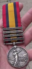 BOER WAR QSA MEDAL, 4 CLASPS, GHOST DATES, RENAMED PTE JOHNSON 5TH M I BDGE.