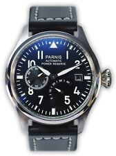PARNIS Edelstahl-Automatik-UhrPilot SeaGull Gangreserve Leder 2055