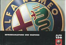 ALFA ROMEO 156  Betriebsanleitung 1999 Bedienungsanleitung Handbuch Bordbuch BA