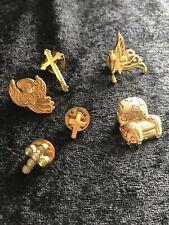Vintage Pins Lot Cross Pin Angel Pin Chair Pin
