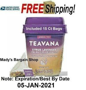 Starbucks Teavana Citrus Lavender Herbal Tea Caffeine Free 15 CT FREE SHIPPING