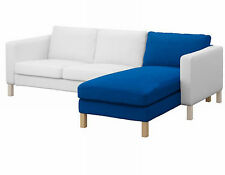 +Ikea Karlstad Chaise Longue Add-on Cover - Korndal Medium Blue 201.838.38