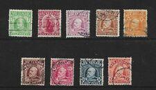 New Zealand Stamps Set of Used 1909 Edward VII Definitives